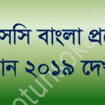 jsc bangla question solution 2019